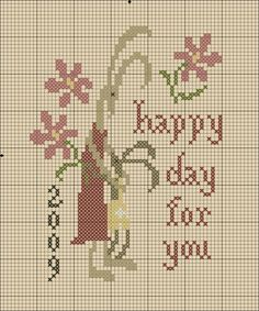 Mother Hare and Child Hare cross stitch chart