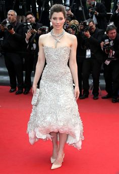 Jessica Biel in #Marchesa at #Cannes 2013, see more red carpet photos at http://www.fashionmagazine.com/blogs/society/red-carpet-society/2013/05/21/best-dressed-cannes-2013-red-carpet/