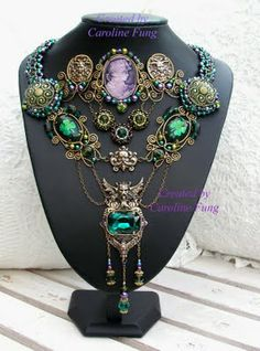 Morgan le Fay-inspired necklace by Caroline Fung