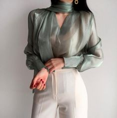 see through blouse Mesh Top Sheer Blouse romantic Top Sexy TopSheer Clothing loose Top See Through Shirt shirts for women Fitnees fashion Mesh Tops, See Through Blouse, Sheer Clothing, Vetement Fashion, Paris Mode, Mode Chic, Sheer Blouse, Sheer Shirt, Sheer Top Outfit