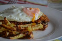 Argentinian Milanesas a Caballo (Beef Milanesas with a Fried Egg)