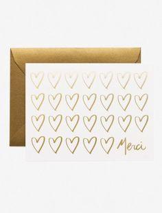 Merci Hearts Card -