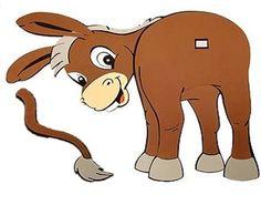 Es un juego tradicional y muy sencillo. Consiste en poner en la pared el dibujo de un burro sin cola. Podemos hacer una cola con lana y le pondremos un poquito de velcro, colocando la otra banda ad...