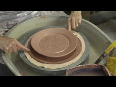 This is a quick vid of me making a small plate using a textured slab of clay and then throwing that slab on the potters wheel. Ceramic Techniques, Pottery Techniques, Clay Plates, Ceramic Plates, Ceramic Tools, Ceramic Clay, Pottery Plates, Ceramic Pottery, Dinnerware Diy