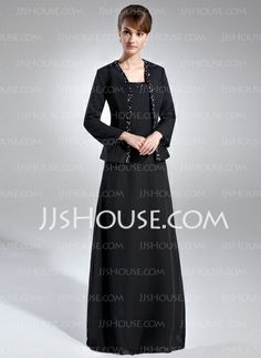 Mother of the Bride Dresses - $118.99 - A-Line/Princess Square Neckline Floor-Length Chiffon Mother of the Bride Dress With Beading (008006144) http://jjshouse.com/A-Line-Princess-Square-Neckline-Floor-Length-Chiffon-Mother-Of-The-Bride-Dress-With-Beading-008006144-g6144