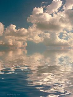 Clouds over water. Art photo by Jerry McElroy Beautiful Sky, Beautiful World, Beautiful Places, Beautiful Pictures, Photo Ciel, Sky Aesthetic, Sky And Clouds, The Sky, Storm Clouds