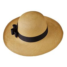 Lady Panama Long Brim (Beige): Ecuadorian long brim Panama hat for women who love high-quality and fashion.