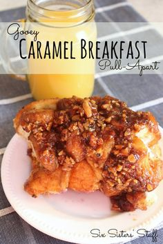 Gooey Caramel Breakfast Pull Apart from SixSistersStuff.com.  The best monkey bread ever! #sixsistersstuff