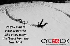 With the 'Beast from the East' starting to rear its ugly head, will you still cycle or will you put the bike away to keep it safe from the harsh weather conditions? 🌨️ 🌨️ Whatever you decide to do stay safe, and wrap up well! Road Cycling, Road Bike, Cycling Ireland, Beast From The East, Cyclists, Stay Safe, Weather Conditions, Bicycle, How To Plan