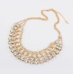 WHOLESALE FASHION JEWELRY ACCESSORIES NEW LATEST DESIGN LADY BIB STATEMENT GORGEOUS MULTI CRYSTAL NECKLACE COLLAR HOT
