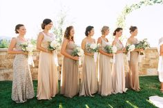 Neutral Bridesmaids Photography: Leo Patrone Photography - leopatronephotography.com