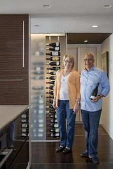 How do you store 30 cases of wine in a condo kitchen? One Boston couple has a solution.
