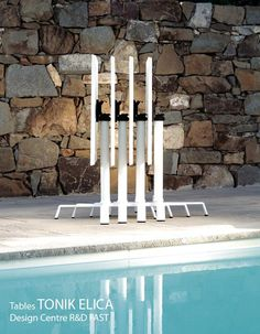 Tables pliantes outdoor TONIK Elica, Aluminium 70x70 cm, Design Centre R&D FAST Spa
