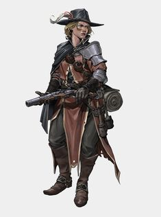 Another quick fantasy character design. Fantasy Character Design, Character Design Inspiration, Character Concept, Character Art, Dnd Characters, Fantasy Characters, Female Characters, Fantasy Armor, Medieval Fantasy