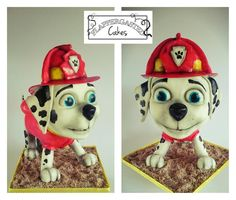 Paw Patrol Marshall cake - Cake by Flappergasted Cakes