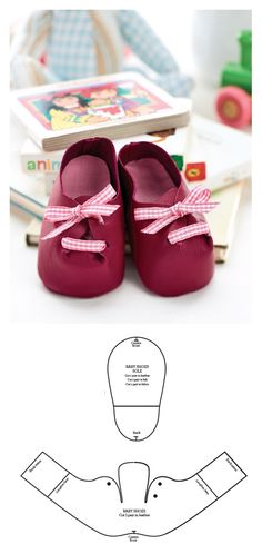 ideas diy baby shoes english for 2019 Doll Shoe Patterns, Baby Shoes Pattern, Dress Patterns, Girl Doll Clothes, Girl Dolls, Baby Dolls, Barbie Clothes, Diy Bebe, Felt Shoes