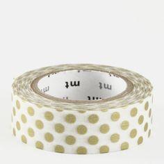 Masking tape / Point or (dot gold) - 3,35 € - Scrapbooking