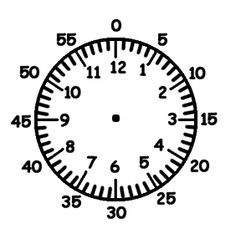 Free printable Clock face template for learning to tell the time ...