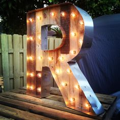 Reclaimed Wood Marquee Letter