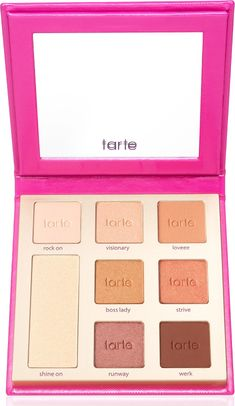 Tarte Double Duty Beauty Don't Quit Your Day Dream Eyeshadow Palette with seven warm-toned eyeshadows and a white gold highlighter.
