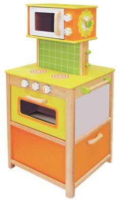 I´m Toy Spielküche, hochwertig aus Holz, Kinderküche massiv von allen Seiten bespielbar