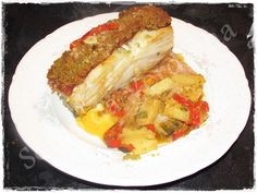 Sótão da Verdinha: Bacalhau na Telha com Bacon, Pimentos e Broa de Milho