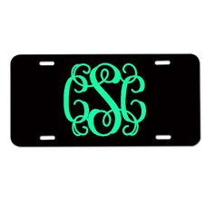 Monogram License Plate, Monogram Car Tag, Personalized License Plate, Monogrammed Gifts on Etsy, Sold