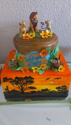 Lion King Baby Shower Cake By HottCakez of Las Vegas March Lion King Theme, Lion King Party, Lion King Birthday, Baby Birthday, Baby Shower Cakes, Baby Shower Parties, Baby Shower Themes, Baby Shower Decorations, Shower Ideas