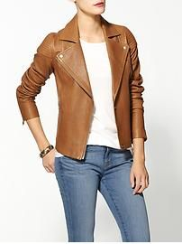 Marc by Marc Jacobs Sergeant Leather Jacket. I love a good camel