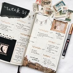 Fun weekly bullet journal or art journal spread - neutral pallette with lots going on! Digital Bullet Journal, Bullet Journal Spread, Bullet Journal Inspo, Bullet Journal Layout, Bullet Journals, Bullet Journal Decoration, Diary Decoration, Wreck This Journal, My Journal