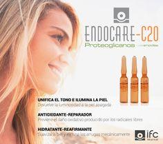 Endocare-C 20 Proteoglicanos ampollas indicadas para el tratamiento y prevención de los signos del envejecimientos gracias a su innovadora fórmula 20% Vitamina C pura + 5% Proteoglicanos + 20 SCA  Te invitamos a descubrir Endocare-C 20 Proteoglicanos visitando nuestra web http://www.ifc-spain.com/endocare/endocare-c/proteoglicanos-ampollas.html