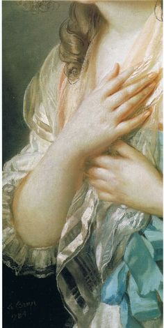 Gorgeous detail from Élisabeth Louise Vigeé Le Brun c 1784.