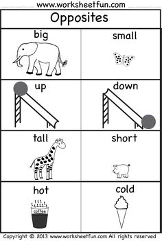 Opposites Worksheet for Kindergarten. 24 Opposites Worksheet for Kindergarten. Verb Opposites Worksheet – Have Fun Teaching English Worksheets For Kids, English Activities, Preschool Learning Activities, Preschool Printables, Kindergarten Worksheets, Preschool Activities, Kids Learning, Printable Worksheets, Activities For 4 Year Olds