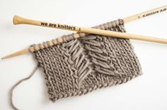 How to knit Caliper Cables