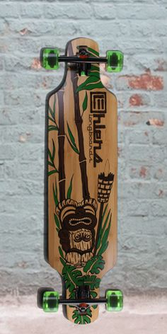 Bamboo Drop Through Longboard Tiki God from Ehlers - Complete Skate 4, Skate Decks, Penny Skateboard, Skateboard Decks, Drop Through Longboard, Longboard Cruiser, They See Me Rollin, Cool Skateboards, Abstract Words
