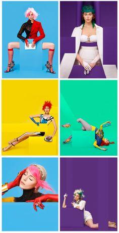 Studio Photography Poses, Ad Photography, Creative Portrait Photography, Creative Portraits, Artistic Photography, Pop Art Fashion, Fashion Graphic, Colorful Fashion, Colorfull Background