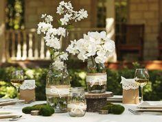 décoration mariage bocaux recyclés