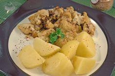 Marinierter Ofen-Blumenkohl und Kartoffeln - Umgekocht
