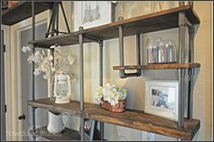 bookshelf made of pipes - Google Search