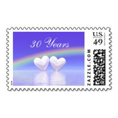 30th Anniversary Pearl Hearts Postage Stamp. It is really great to make each letter a special delivery! Add a unique touch to invites or cards with your own photos or text. Just click the image to learn more!