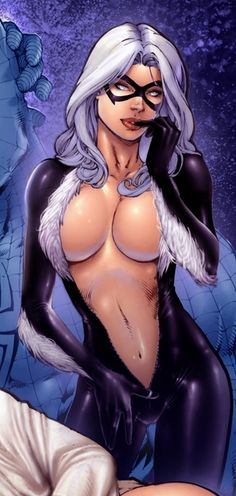 I yhink black cat should be in the next spiderman solo film how bout yall Marvel Women, Marvel Girls, Comics Girls, Marvel Dc Comics, Anime Comics, Marvel Heroes, Fantasy Anime, Fantasy Girl, Art Manga