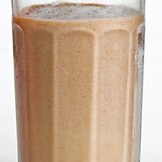 Banana-Peanut Butter Smoothie | 2 bananas, 1/2 cup peanut butter, 1.5 cup milk or almond milk, 2 tbsp honey, 2 tbsp protein powder, 1.5 cup ice...serves 2-4
