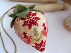 quaker strawberry cross stitch
