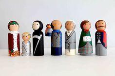 christmas carol pin dolls
