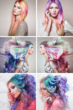 2020 Fashionable Colorful Hairstyles  #fashion #lilyhair #beauty #wedding #bride Latest Hair Color, Golden Blonde, Light Blonde, Color Swatches, Wedding Bride, Collages, Hair Extensions, Wigs, Coloring