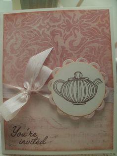 Tea Party Invitation Mauve Soft Pink Princess Party Invitation Fold Over Card...Personalized Invite. $3.50, via Etsy.
