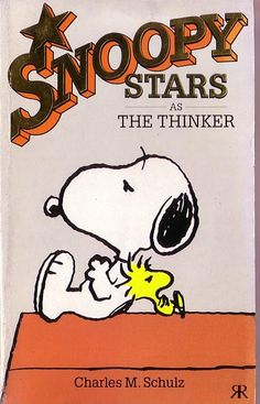 Snoopy Stars As The Thinker - Ravette 1989