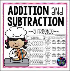 """FREE MATH LESSON - """"Cupcake Addition and Subtraction"""" - Go to The Best of Teacher Entrepreneurs for this and hundreds of free lessons. Kindergarten - 1st Grade  http://www.thebestofteacherentrepreneurs.com/2016/12/free-math-lesson-cupcake-addition-and.html"""