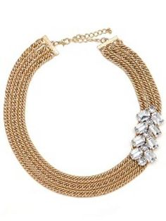 "triple strand necklace with sparkle. 18"" so it's perfect to dress up any dress.. love it"