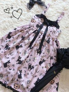 Little FairyTale -Halloween Black Cat- Lolita Jumper Dress #Leftovers